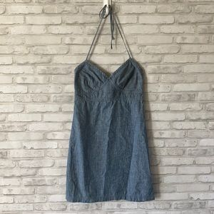 Gap Denim Halter Dress Blue Size 4